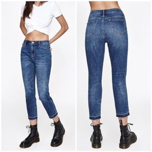 Pacsun Skinny Straight Released Raw Hem Jeans